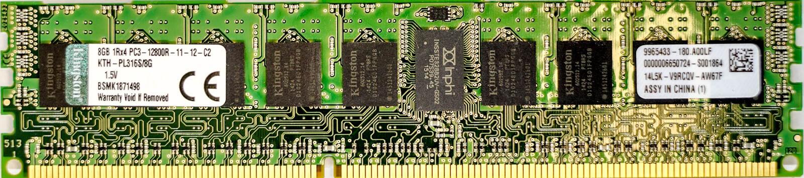 Kingston - 8GB PC3-12800R (DDR3-1600Mhz, 1RX4)