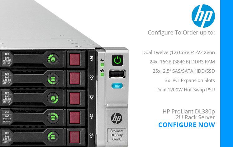 HP ProLiant DL380p Gen8 25-Bay Refurbished Server Refurbished 2U Rack Server